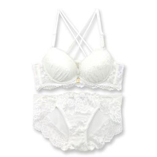 fran de lingerie♡白レースブラセット(ブラ&ショーツセット)