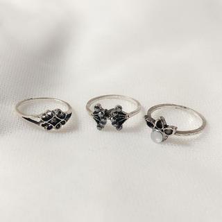 ザラ(ZARA)のシルバーリング 指輪 リング 13号 セット ZARA(リング(指輪))
