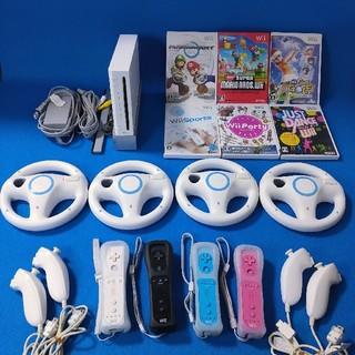 Wii - 4人ですぐに遊べる✨贅沢セット!本体とマリカーの一式 人気ソフト6本❗