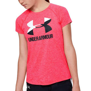 アンダーアーマー(UNDER ARMOUR)の新品 アンダーアーマー キッズ 半袖 Tシャツ 140 ピンク(Tシャツ/カットソー)