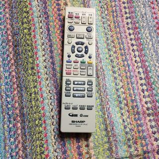 シャープ(SHARP)のSHARP HDD/DVDレコーダー/テレビリモコンGA426PA(その他)