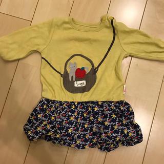 フタフタ(futafuta)の女の子用 ベビー用ワンピース サイズ70 フタフタ 猫柄(ワンピース)