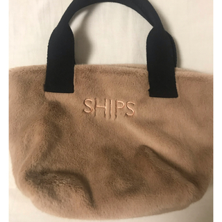 SHIPS - ships★シップス エコファートート ベージュ美品