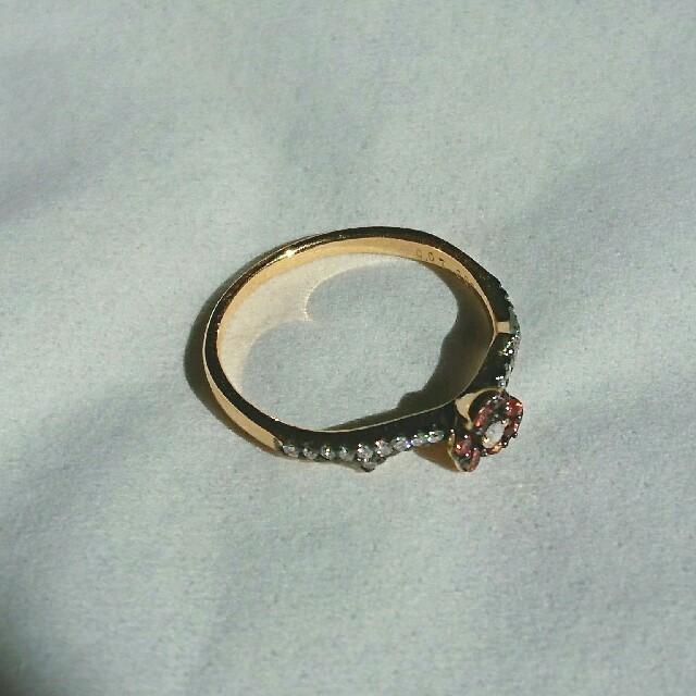 PonteVecchio(ポンテヴェキオ)のだいざえもん様専用 セイレーンアズーロ K18YG オレンジサファイア  リング レディースのアクセサリー(リング(指輪))の商品写真
