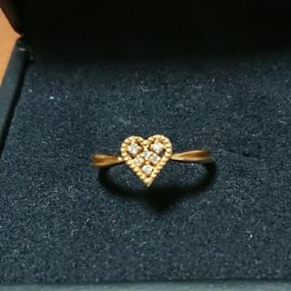 ダイヤモンド k18 YG リング 10号(リング(指輪))