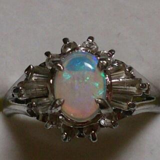 ウォーターオパールのリング(リング(指輪))