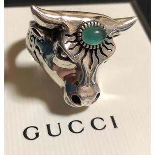 グッチ(Gucci)のGUCCI グッチ ブル ヘッド リング 大 19号 指輪 正規品 中古 美品 (リング(指輪))