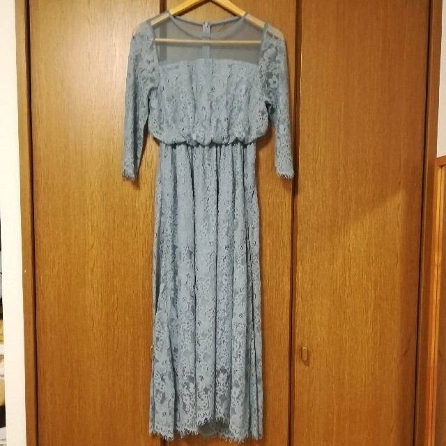 apart by lowrys(アパートバイローリーズ)のapart by lowrys 結婚式 袖あり ワンピース レディースのフォーマル/ドレス(ロングドレス)の商品写真