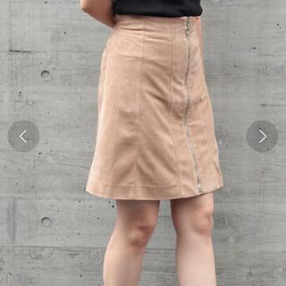 ミスティウーマン(mysty woman)のmysty woman フェイクスエード台形スカート(ひざ丈スカート)