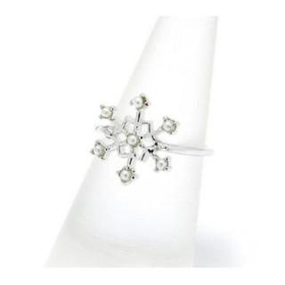 【新品!雪の結晶リング  シルバー】(リング(指輪))