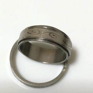 同時購入で300円ステンレス指輪 波渦模様(リング(指輪))