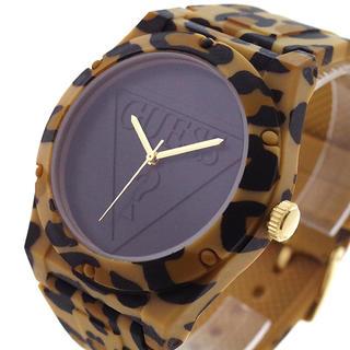 ゲス(GUESS)のGUESS 腕時計 メンズ レディース RETROPOP ブラック レオパード(腕時計)