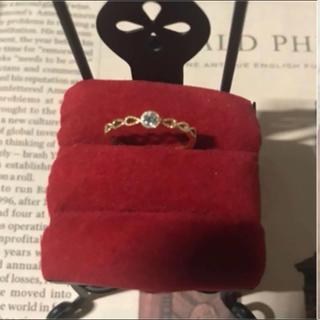 K18 高品質ダイヤモンドリング 5号(リング(指輪))