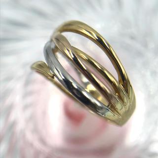 K18 Pt900 マルチカラー リング 指輪 10号(リング(指輪))