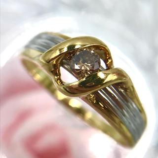 K18 Pt900 ダイヤモンド D0.11ct  デザイン リング 13号(リング(指輪))