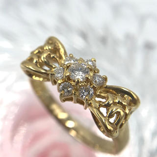 K18 ダイヤモンド D0.30ct デザイン リング 13号(リング(指輪))