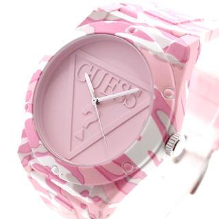 ゲス(GUESS)のGUESS 腕時計 メンズ レディース RETROPOP クォーツ ベビーピンク(腕時計)