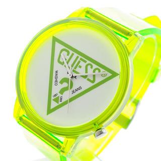 ゲス(GUESS)のGUESS 腕時計 メンズ レディース ハリウッド ホワイト クリアグリーン(腕時計)