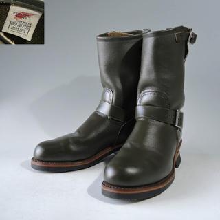 レッドウィング(REDWING)のPT99刺繍羽タグ8273エンジニアカンガタンポーテージ緑グリーン茶芯8180(ブーツ)