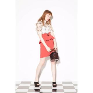 Lily Brown - Lily Brown ペプラムベルト付スカート