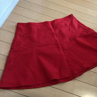 ザラ(ZARA)のZARA 赤 ミニスカート 赤スカート L 大きいサイズ スカート レッド LL(ミニスカート)