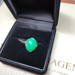 シルバー silver 指輪 13号 グリーン クリソプレーズ(リング(指輪))