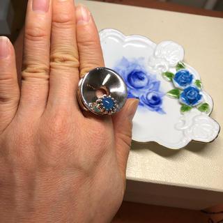青瑪瑙 ブルーアゲート silver 大振り リング 指輪(リング(指輪))