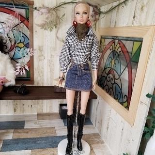 バービー(Barbie)の♥️ちむま様専用♥️ポピーパーカー 洋服3点セットと帽子(人形)