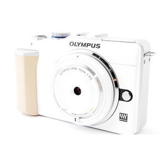 OLYMPUS - OLYMPUS E-PL1 レンズ付☆高画質のかわいいホワイト