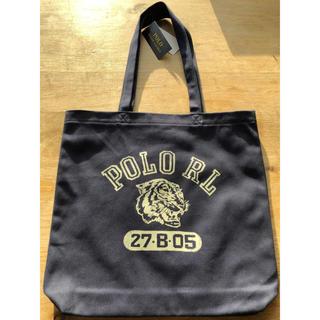 ポロラルフローレン(POLO RALPH LAUREN)のポロ ラルフローレンキャンバストートバッグネイビー新品未使用(トートバッグ)