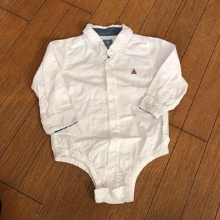 babyGAP - 白シャツ ロンパース 80〜90