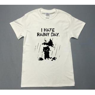 雨の日が嫌な猫 イラスト 半袖 Tシャツ utn203(Tシャツ/カットソー(半袖/袖なし))