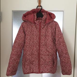 GU - GU 小花柄 リバティ柄 ピンク色 ダウンジャケット ジャンバー 140cm
