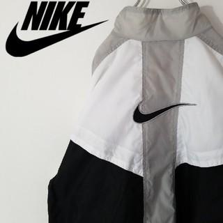 ナイキ(NIKE)の古着 90S ナイキ 銀タグ ナイロン ジャケット オーバーサイズ 刺繍ロゴ(ナイロンジャケット)