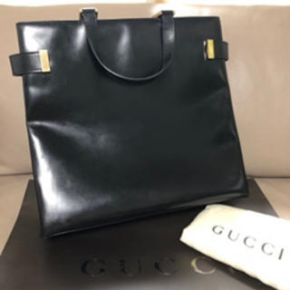 Gucci - グッチ レザー ビジネスバッグ トートバッグ ブラック