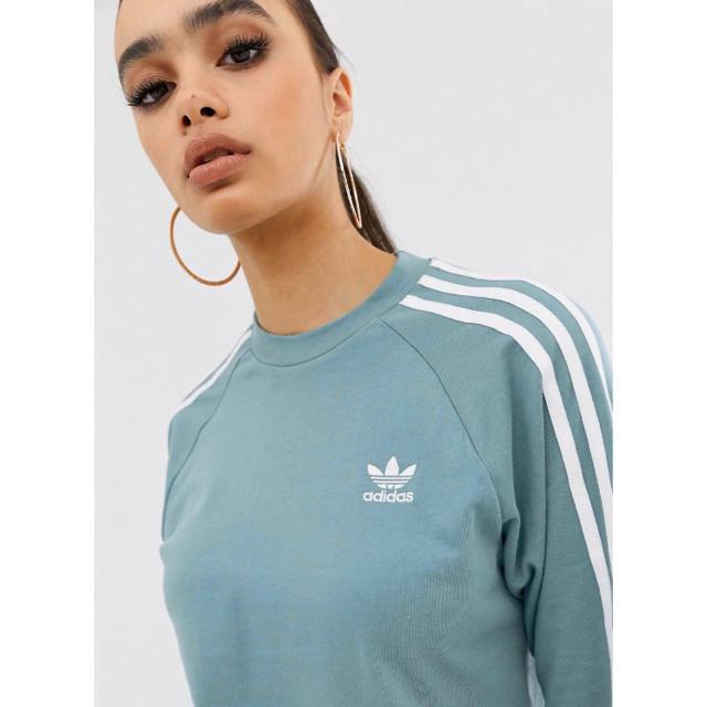 adidas(アディダス)の【Sサイズ】新品未使用 adidas ロングスリーブ グリーン アディダス レディースのトップス(Tシャツ(長袖/七分))の商品写真