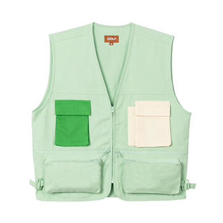 BEAMS - Golf wang mint green ベスト