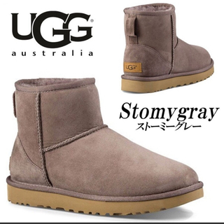 UGG - 最新作🌈UGGクラシックミニII 希少カラーストーミーグレー24cm