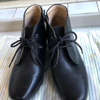 リーガル(REGAL)のリーガルウォーカー 黒ショートブーツ 24.0(ブーツ)