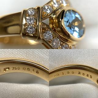 ポーラ(POLA)のPOLA アクアマリン ダイヤモンド リング(リング(指輪))