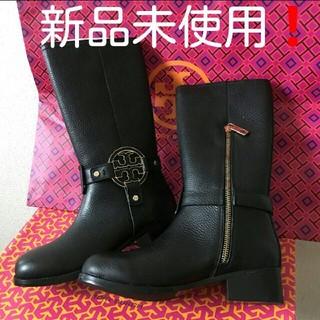 Tory Burch - 新品 TORY BURCH☆ロゴ ポイントブーツ 黒