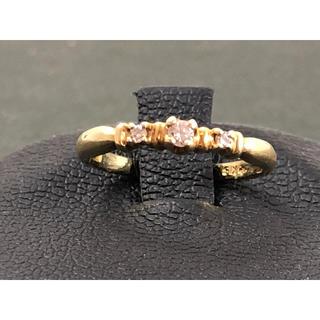 天然ダイヤモンド k18ピンキーリング(リング(指輪))