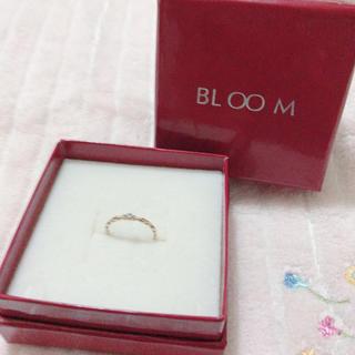 ブルーム(BLOOM)のbloom ピンキーリング 小さな石(リング(指輪))