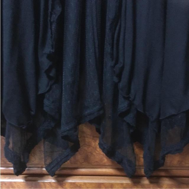 HONEYS(ハニーズ)のレディース ハニーズ カーディガン レース アシンメトリー チュール ブラック レディースのトップス(カーディガン)の商品写真