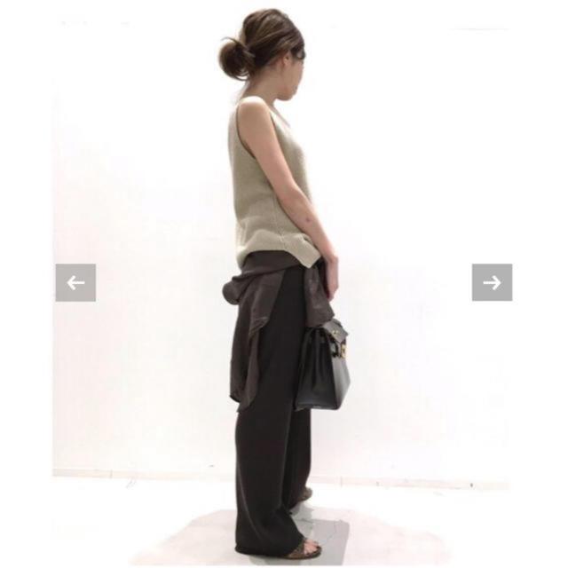 L'Appartement DEUXIEME CLASSE(アパルトモンドゥーズィエムクラス)の【19SS】 L'Appartement ◇New Knit パンツ 36 黒 レディースのパンツ(カジュアルパンツ)の商品写真