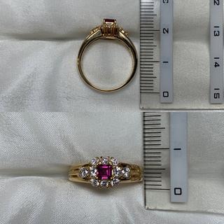 ポーラ(POLA)のPOLA ルビー ダイヤ ファッションリング(リング(指輪))