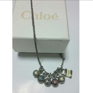 クロエ(Chloe)のChloe  マルチカラー・ロゴ  ボール  ネックレス  箱つき(ネックレス)