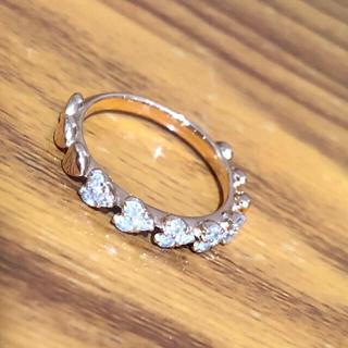 ピンクゴールド ハートモチーフ 0.3ct ダイヤモンド リング(リング(指輪))