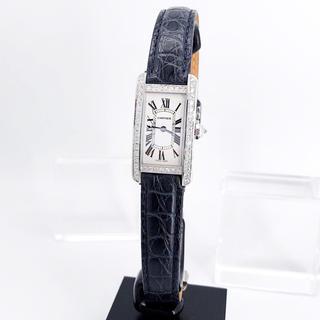 Cartier - 【保証書付】カルティエ タンク アメリカン SM ダイヤ レディース 腕時計