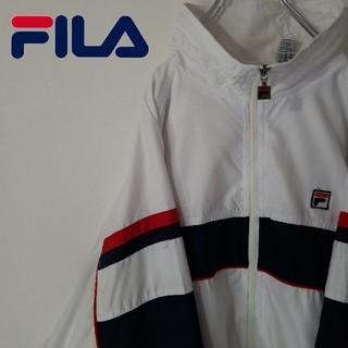 フィラ(FILA)の古着 90S フィラ マルチカラー ポリ ジャケット オーバーサイズ(ナイロンジャケット)